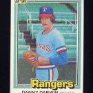 1981 Donruss Baseball #147 Danny Darwin - Texas Rangers