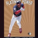 1995 SP Platinum Power #PP09 Albert Belle - Cleveland Indians
