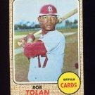 1968 Topps Baseball #084 Bob Tolan - St. Louis Cardinals