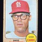 1968 Topps Baseball #046 Dave Ricketts - St. Louis Cardinals