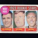 1969 Topps Baseball #628 Rookie Stars Bill Conigliaro / Syd  O' Brien / Fred Wenz - Boston Red Sox