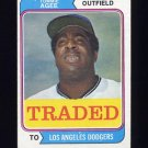 1974 Topps Traded #630T Tommie Agee - Los Angeles Dodgers