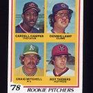 1978 Topps Baseball #711 Cardell Camper / Dennis Lamp / Craig Mitchell / Roy Thomas