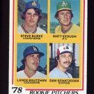 1978 Topps Baseball #709 Steve Burke / Matt Keough / Lance Rautzhan and Dan Schatzeder NM-M