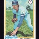 1978 Topps Baseball #638 Paul Splittorff - Kansas City Royals