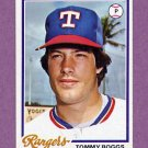 1978 Topps Baseball #518 Tommy Boggs - Texas Rangers ExMt