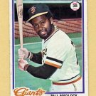 1978 Topps Baseball #410 Bill Madlock - San Francisco Giants VgEx