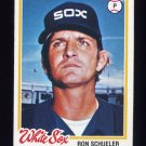 1978 Topps Baseball #409 Ron Schueler - Chicago White Sox