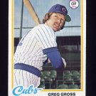 1978 Topps Baseball #397 Greg Gross - Chicago Cubs