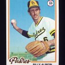 1978 Topps Baseball #392 Billy Almon - San Diego Padres