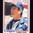 1978 Topps Baseball #375 Tommy John - Los Angeles Dodgers