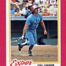 1978 Topps Baseball #348 Del Unser - Montreal Expos