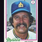 1978 Topps Baseball #333 Jim Todd - Seattle Mariners
