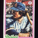 1978 Topps Baseball #254 Dave Collins - Seattle Mariners