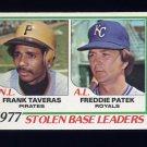 1978 Topps Baseball #204 Stolen Base Leaders Frank Taveras / Freddie Patek ExMt