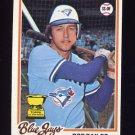 1978 Topps Baseball #196 Bob Bailor - Toronto Blue Jays