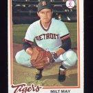 1978 Topps Baseball #176 Milt May - Detroit Tigers