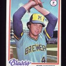 1978 Topps Baseball #133 Jerry Augustine - Milwaukee Brewers