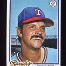 1978 Topps Baseball #110 Richie Zisk - Texas Rangers
