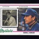 1978 Topps Baseball #079 Darrell Johnson MG - Seattle Mariners