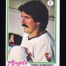 1978 Topps Baseball #071 Terry Humphrey - California Angels