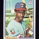 1978 Topps Baseball #067 Claudell Washington - Texas Rangers