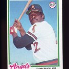 1978 Topps Baseball #048 Don Baylor - California Angels ExMt