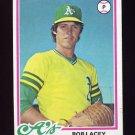 1978 Topps Baseball #029 Bob Lacey RC - Oakland A's