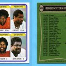 1978 Topps Football #528 Washington Redskins Team Leaders / Ken Houston Vg