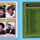 1978 Topps Football #520 Oakland Raiders Team Leaders