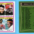 1978 Topps Football #505 Cincinnati Bengals Team Leaders / Reggie Williams