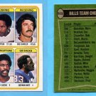 1978 Topps Football #503 Buffalo Bills Team Leaders / O.J. Simpson ExMt
