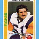 1978 Topps Football #498 Rich Saul - Los Angeles Rams