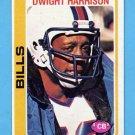 1978 Topps Football #496 Dwight Harrison - Buffalo Bills
