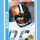 1978 Topps Football #463 Henry Childs - New Orleans Saints