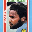 1978 Topps Football #452 Clyde Powers - New York Giants
