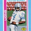 1978 Topps Football #427 Dexter Bussey - Detroit Lions