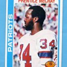 1978 Topps Football #421 Prentice McCray - New England Patriots