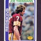 1978 Topps Football #416 Joe Theismann - Washington Redskins