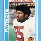 1978 Topps Football #401 Julius Adams - New England Patriots NM-M