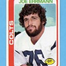 1978 Topps Football #398 Joe Ehrmann - Baltimore Colts