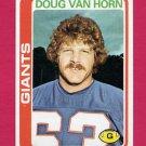 1978 Topps Football #372 Doug Van Horn - New York Giants