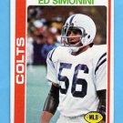 1978 Topps Football #325 Ed Simonini - Baltimore Colts