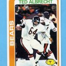 1978 Topps Football #298 Ted Albrecht - Chicago Bears