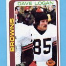 1978 Topps Football #268 Dave Logan RC - Cleveland Browns