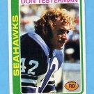 1978 Topps Football #219 Don Testerman - Seattle Seahawks NM-M