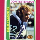 1978 Topps Football #219 Don Testerman - Seattle Seahawks ExMt