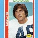1978 Topps Football #171 David Lee - Baltimore Colts