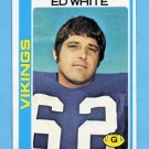 1978 Topps Football #163 Ed White - Minnesota Vikings