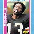 1978 Topps Football #115 Ken Riley - Cincinnati Bengals